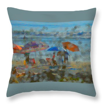Raining Abstract Throw Pillow