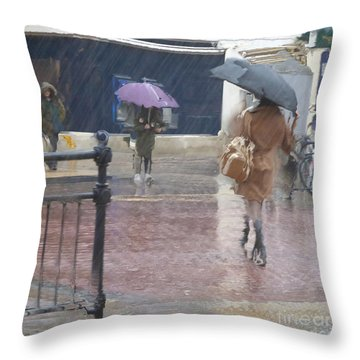 Raining All Around Throw Pillow