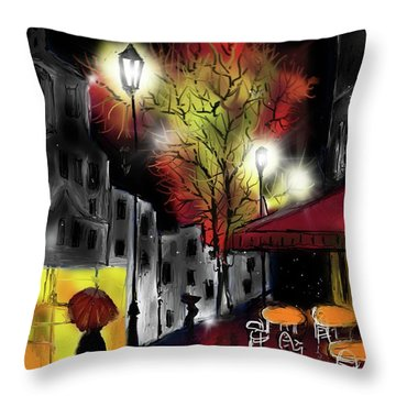 Raining And Color Throw Pillow