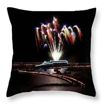 Raining Colour. Throw Pillow