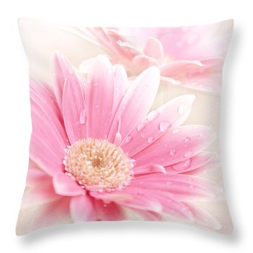 Raining Petals Throw Pillow