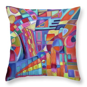Rainmakers' Dance Throw Pillow