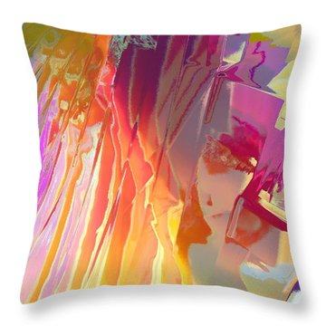 Rainshower Throw Pillow