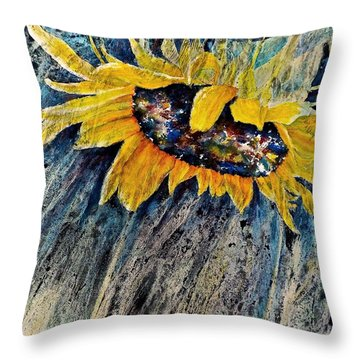 Throw Pillow featuring the painting Rainswept by Carolyn Rosenberger