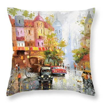 Rainy Day 3 Throw Pillow