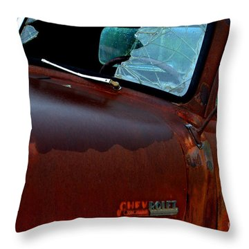 Rainy Day Chevrolet 4 Throw Pillow