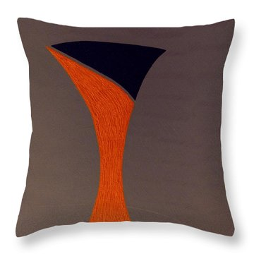 Throw Pillow featuring the painting Rainy Day Feeling by Bill OConnor