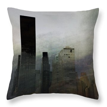 Rainy Day In Manhattan Throw Pillow