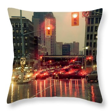 Rainy Day In Ottawa Throw Pillow