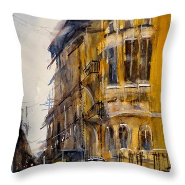 Rainy Day In Sofia Throw Pillow