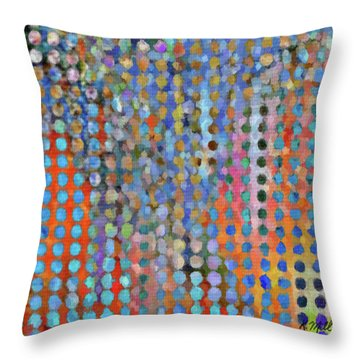 Rainy Day In The Garden Throw Pillow