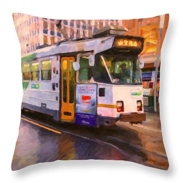 Rainy Day Melbourne Throw Pillow