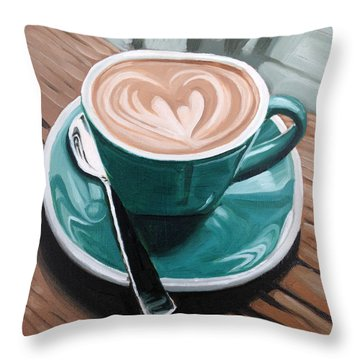 Rainy Day Throw Pillow by Nathan Rhoads