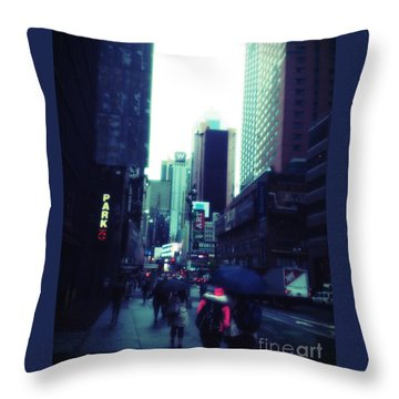 Rainy Day New York City Throw Pillow