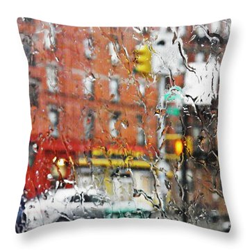 Rainy Day Nyc 2 Throw Pillow by Sarah Loft