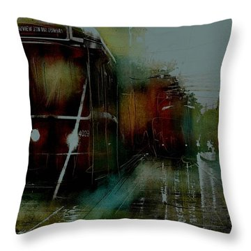 Rainy Day On The Ttc Throw Pillow by Jim Vance