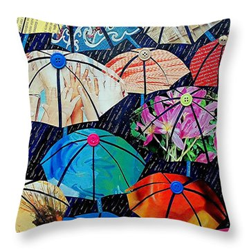 Rainy Day Personalities Throw Pillow
