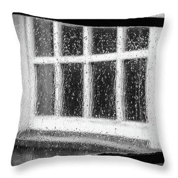 Rainy Day Window Throw Pillow