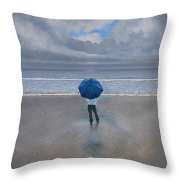 Rainy Days And Mondays Throw Pillow by Paul Newcastle