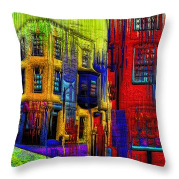 Rainy Days And Mondays Throw Pillow