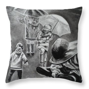 Rainy Daze Throw Pillow