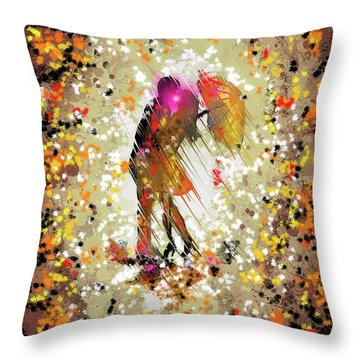 Throw Pillow featuring the digital art Rainy Love by Darren Cannell
