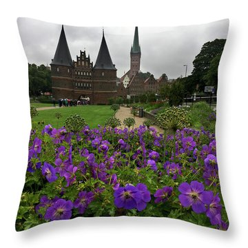 Rainy Luebeck Is Beautiful Throw Pillow
