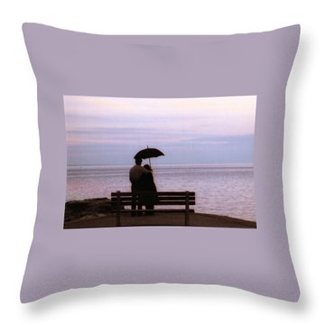 Rainy-may In Color Throw Pillow