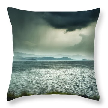 Rainy Mood Throw Pillow