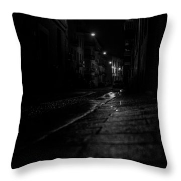 Rainy Night Throw Pillow by Cesare Bargiggia