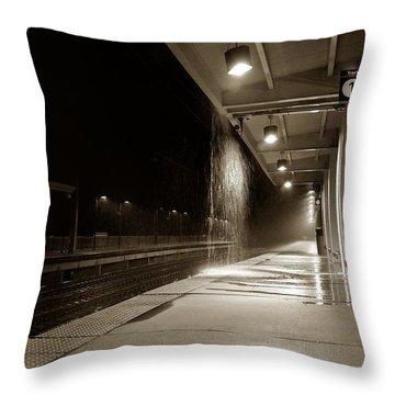 Rainy Night In Baltimore Throw Pillow