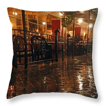 Rainy Night In Gainesville Throw Pillow