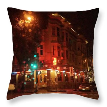 Rainy Night San Francisco Throw Pillow