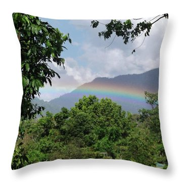 Rainy Season Back In The Rainforest Throw Pillow