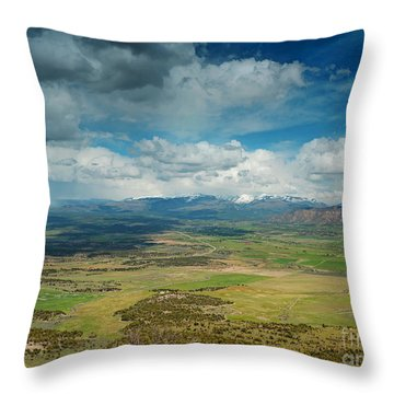 Rainy Storm Clouds Mesa Verde National Park Throw Pillow