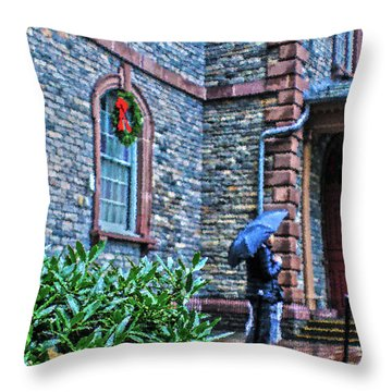 Rainy Sunday Throw Pillow by Sandy Moulder