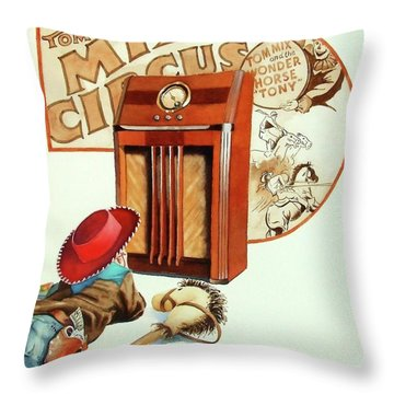 Raised On The Radio 2 Throw Pillow