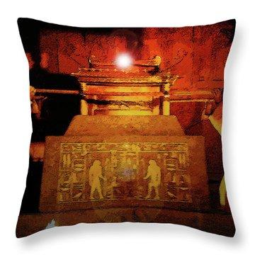 Raising The Ark Throw Pillow by David Lee Thompson