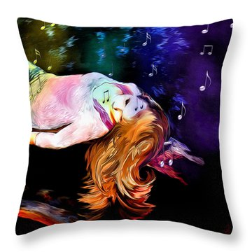 Raising Your Vibration Throw Pillow