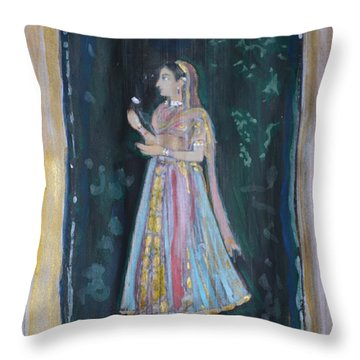 Raj Kumari Throw Pillow