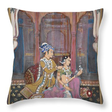 Rajasthani And Mogul Palace Throw Pillow