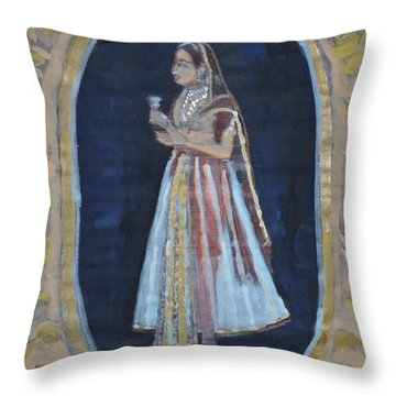 Rajasthani Queen Throw Pillow