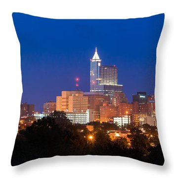 Raleigh Skyline Throw Pillow
