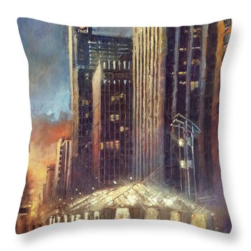 Raleigh With Symphony Tent Throw Pillow