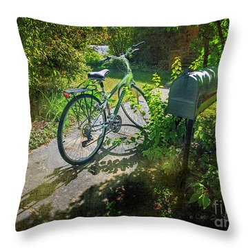 Throw Pillow featuring the photograph Raleio Bicycle by Craig J Satterlee