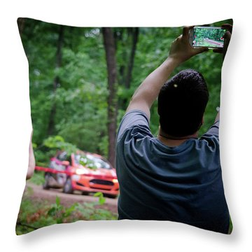 Rally Fan Capture Throw Pillow