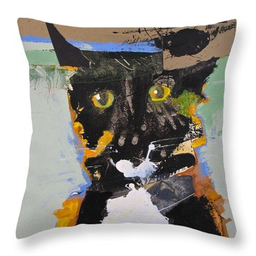 Throw Pillow featuring the painting Ralph Abstracted by Cliff Spohn