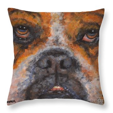 Ralph Throw Pillow by Jana Baker