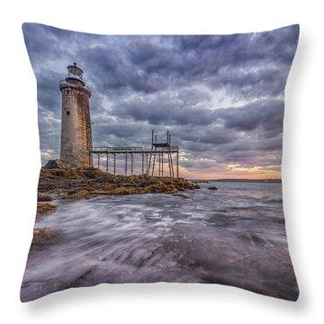Ram Island Ledges Throw Pillow