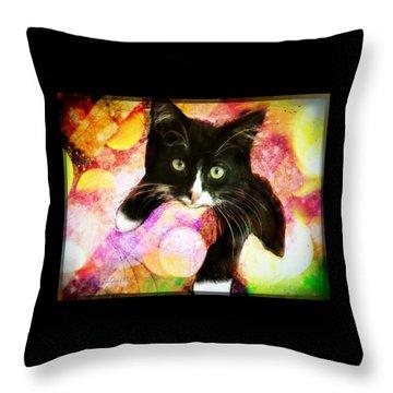 Rama The Miracle Cat Throw Pillow